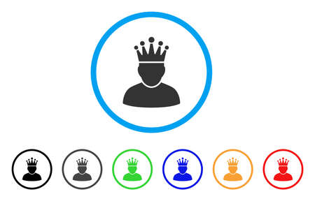 czar: King rounded icon.