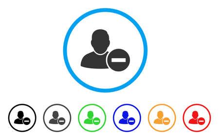 Remove User rounded icon. Banco de Imagens - 86480117