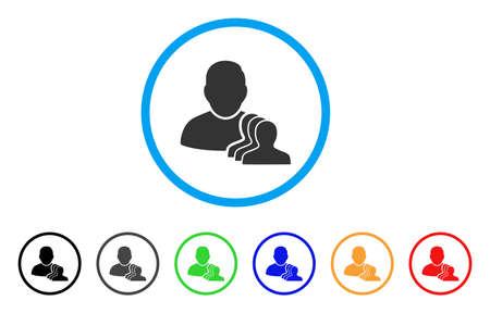 ユーザー ポーン アイコンを丸められます。スタイルは、フラット ユーザーの駒黒、グレー、緑、青、赤、オレンジ色のバリエーションを持つ光の