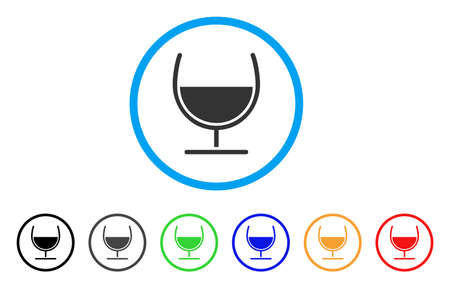Syrup Glass rounded icon. Style is a flat syrup glass gray symbol inside light blue circle with black, gray, green, blue, red, orange versions. Vector designed for web and software interfaces.