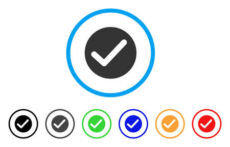 Apply rounded icon. Style is a flat apply gray symbol inside light blue circle with black, gray, green, blue, red, orange versions. Vector designed for web and software interfaces.