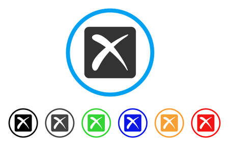 rejection: Reject rounded icon. Style is a flat reject grey symbol inside light blue circle with black, gray, green, blue, red, orange variants. Vector designed for web and software interfaces.