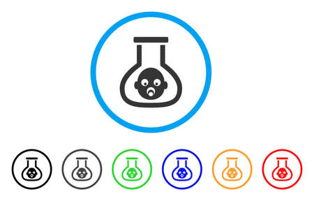 test tube babies: Test Tube Baby rounded icon. Style is a flat test tube baby gray symbol inside light blue circle with black, gray, green, blue, red, orange variants. Vector designed for web and software interfaces. Illustration