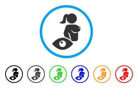 View Naked Lady rounded icon. Style is a flat view naked lady gray symbol inside light blue circle with black, gray, green, blue, red, orange versions. Vector designed for web and software interfaces. Иллюстрация