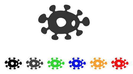 ameba: Bacteria icon. Illustration