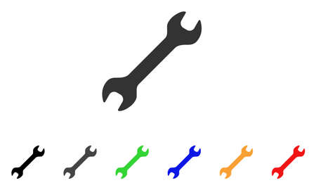 Wrench icon. Illustration