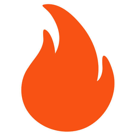 Fire flat vector icon. An isolated illustration on a white background. Illustration