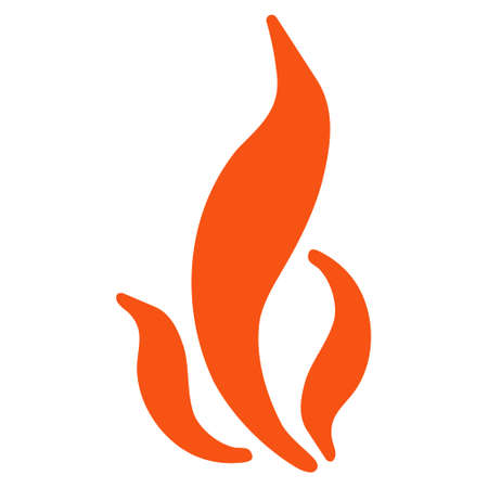 Flame flat vector pictogram. An isolated illustration on a white background.