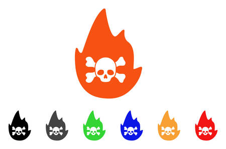Hellfire icon. Vector illustration style is a flat iconic hellfire symbol with black, gray, green, blue, red, orange color variants. Designed for web and software interfaces. Illustration