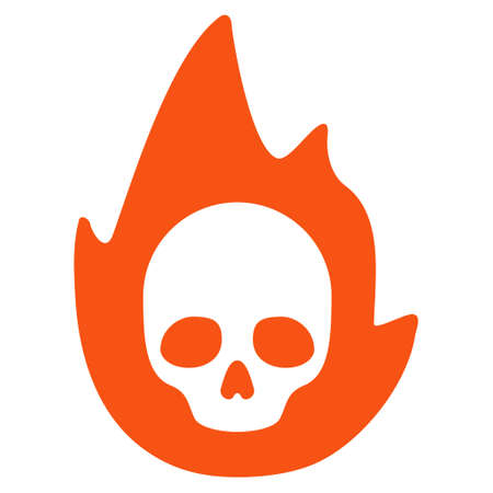 Mortal Flame flat vector icon. An isolated illustration on a white background.