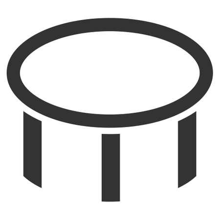 Flache Düse flache Vektor-Symbol. Eine isolierte Darstellung auf einem weißen Hintergrund. Standard-Bild - 86539620