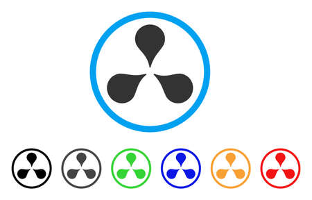 Map Markers rounded icon. Style is a flat map markers grey symbol inside light blue circle with black, gray, green, blue, red, orange variants. Vector designed for web and software interfaces.