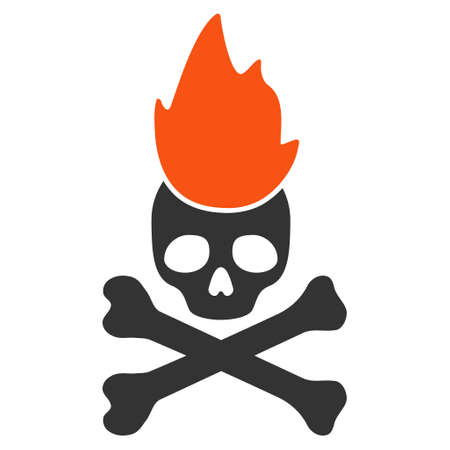 Hell Fire flat raster pictograph. An isolated illustration on a white background.