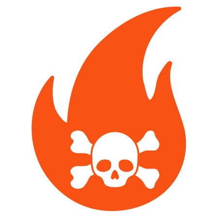 Hellfire flat raster pictograph. An isolated illustration on a white background.