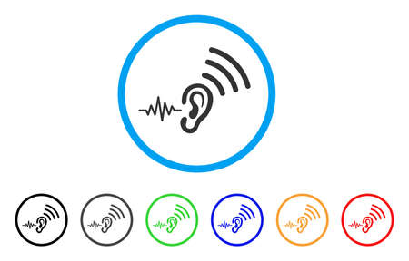 Listen And Transfer rounded icon. Illustration