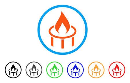 Burner Nozzle Flame rounded icon.