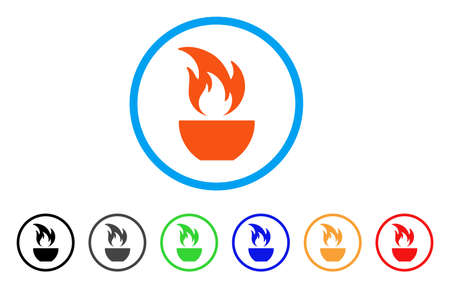 Fire Bowl rounded icon.
