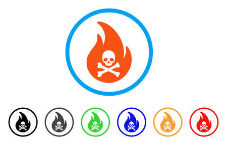 Hell Fire rounded icon Illustration