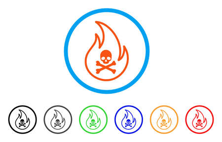 Toxic Fire rounded icon.