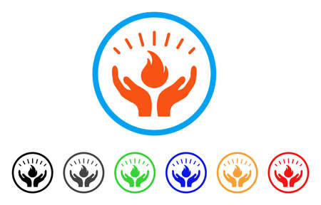 Fire Care Hands rounded icon.