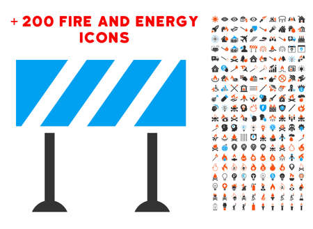 Barrier icon with bonus energy clip art. Illustration