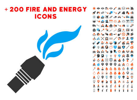 Burner Nozzle Fire icon with bonus fire icon set