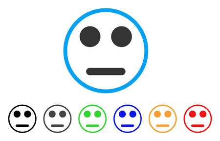 Indifferent Smiley rounded icon