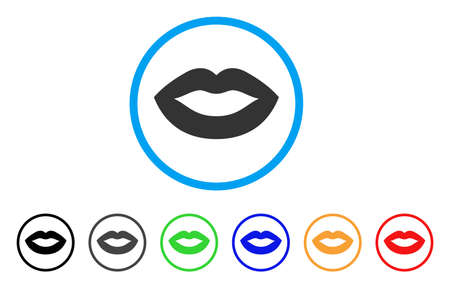 Lips Smile rounded icon