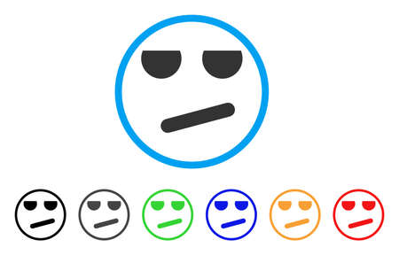 Bored Smiley rounded icon
