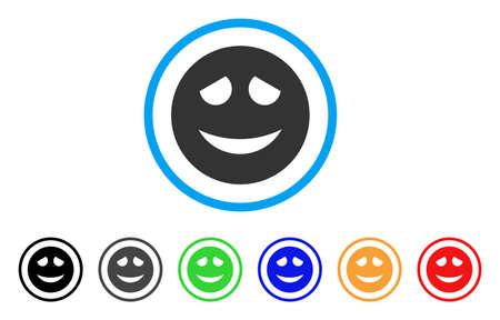 Embarrassed Smiley icon Иллюстрация