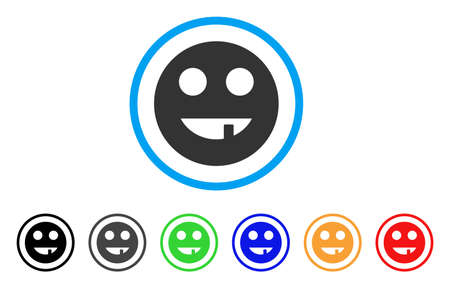 Tooth Smiley icon Illustration