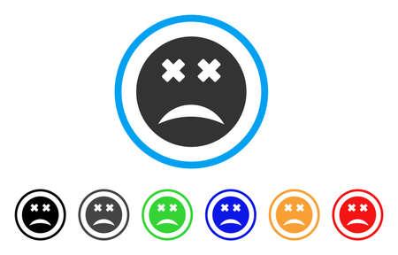 Blind Smiley icon Illustration