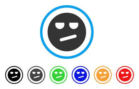 Smiley aburrido icono Ilustración de vector