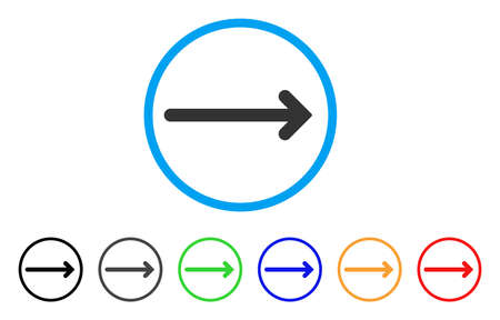 Arrow Right icon. Vector illustration style is a flat iconic arrow right symbol with black, grey, green, blue, red, orange color variants. Designed for web and software interfaces. Illustration