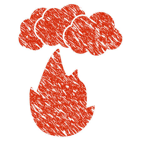 Grunge Flame With rubber seal stamp watermark.