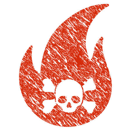 Icon hellfire symbol with grunge design and dirty texture.