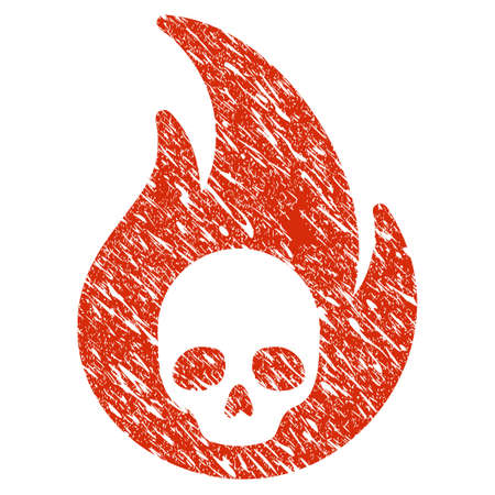 Grunge Hellfire rubber seal stamp watermark. Icon hellfire symbol with grunge design and scratched texture. Unclean raster red emblem.
