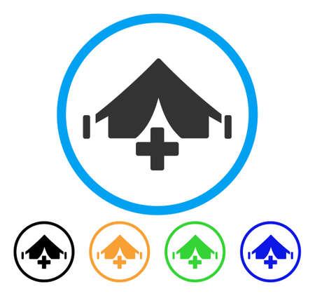 Field Hospital rounded icon Çizim