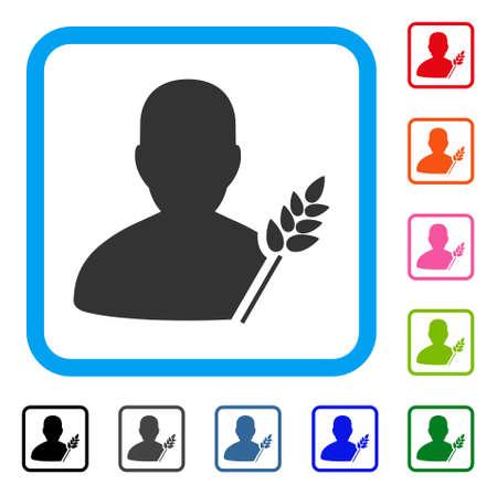 peasant: Agriculture man icon