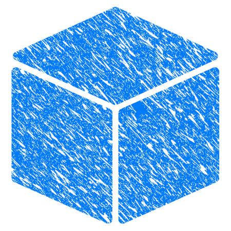 sugar cube: Grunge Cube icon Illustration