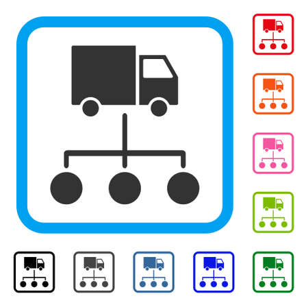Truck distribution links icon.