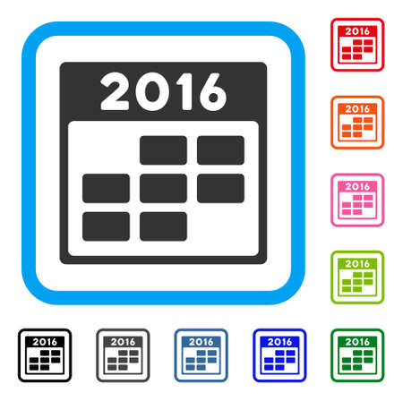 2016 month calendar icon. Illustration