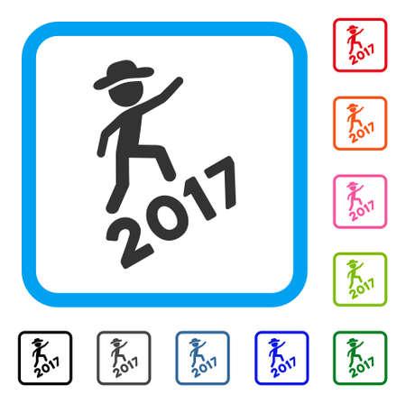 Gentleman Climb 2017 icon. Illustration