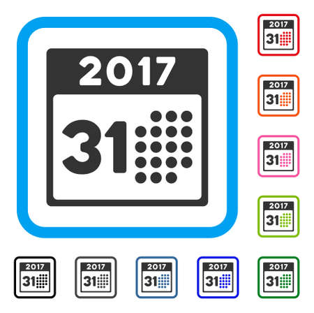 Last 2017 Month Day icon. Illustration