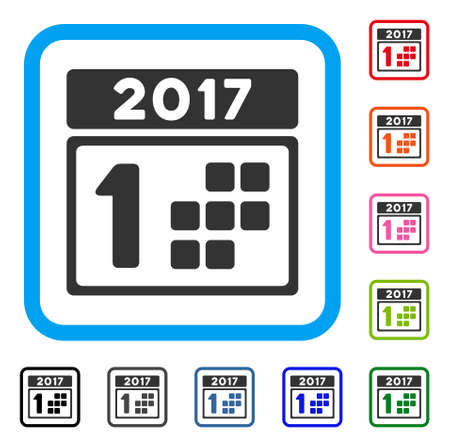 2017 Year First Day icon.