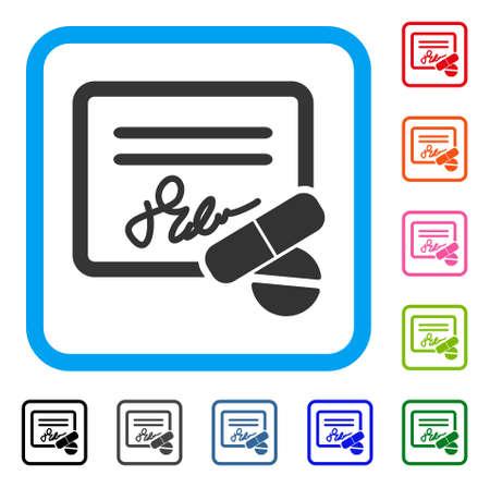 Ontvangstpictogram. Vlak grijs iconisch symbool in een lichtblauw afgerond vierkant frame. Zwart, grijs, groen, blauw, rood, oranje kleurvarianten van de ontvangstvector. Ontworpen voor web- en app-gebruikersinterfaces. Stock Illustratie