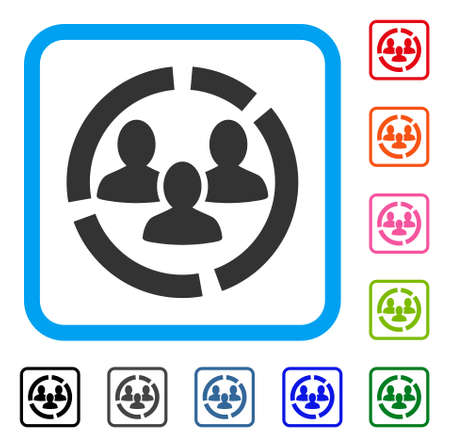 Demography Diagram icon symbol design illustration.