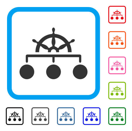 Regelstructuur pictogram symbool in een lichtblauwe afgeronde frame ontwerp illustratie. Stock Illustratie