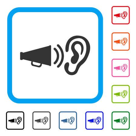 耳を傾ける記号のセットです。