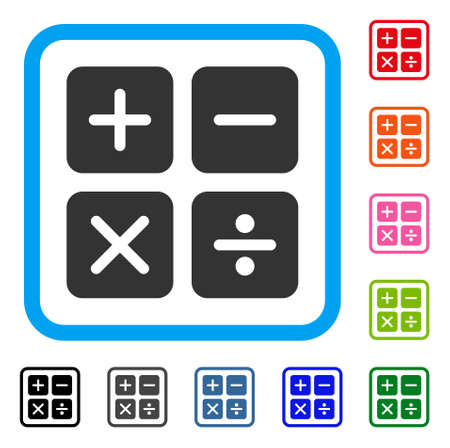 Calculator buttons icon.